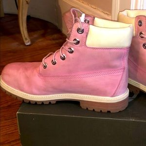 PINK Timberland Women's Ankle Boots